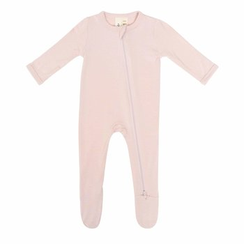 Kyte Clothing Kyte: Zipper Footie - Blush