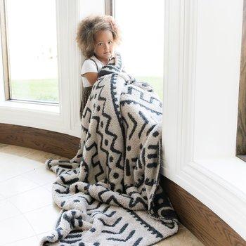 Saranoni Bamboni Double Layer XL Blanket - Mudcloth