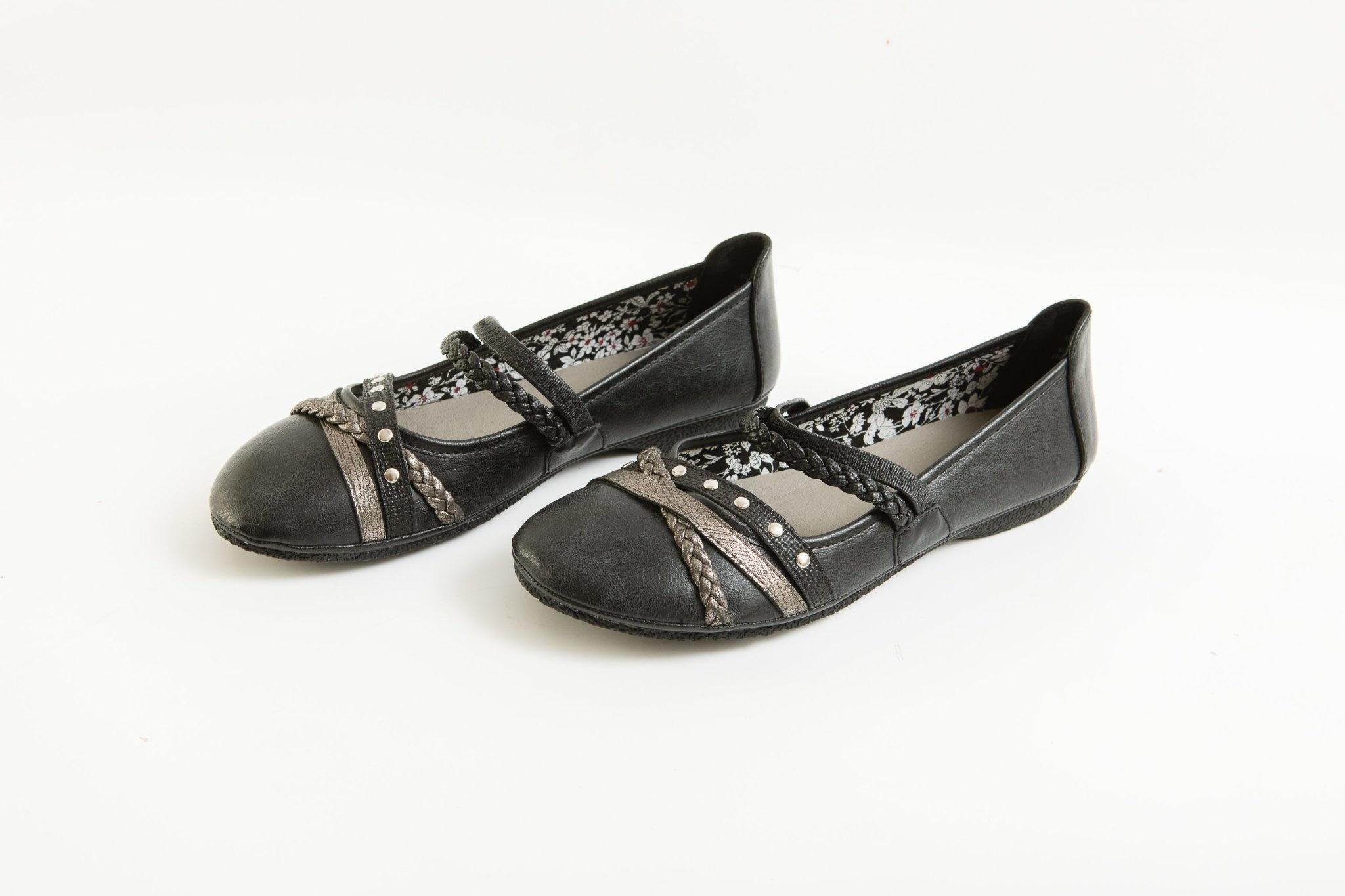 Black Flat with Embellishments