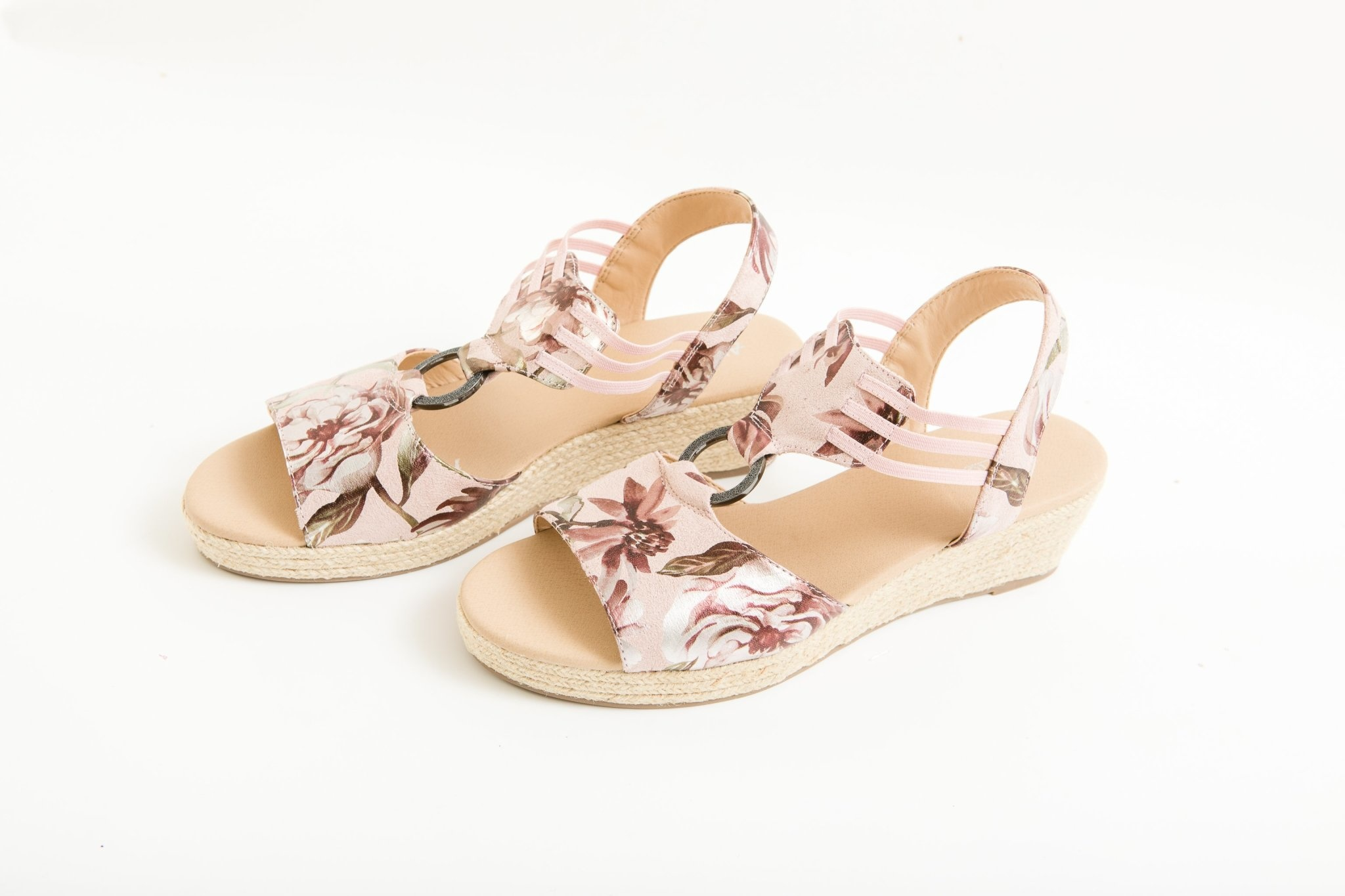 Floral Wedge Sandal
