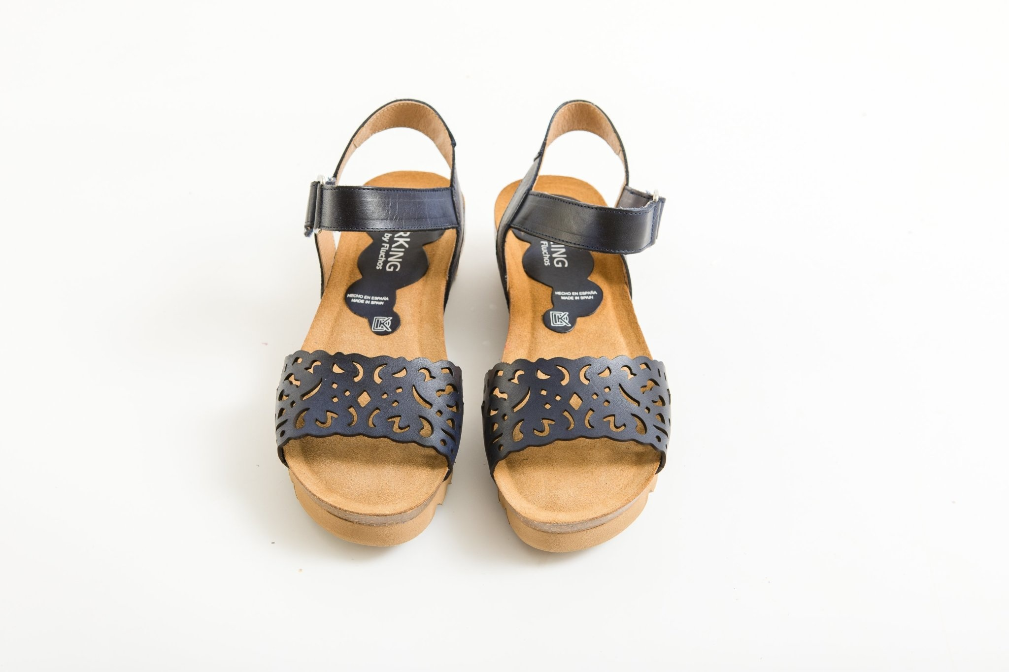Wedge Sandal with Floral Toe