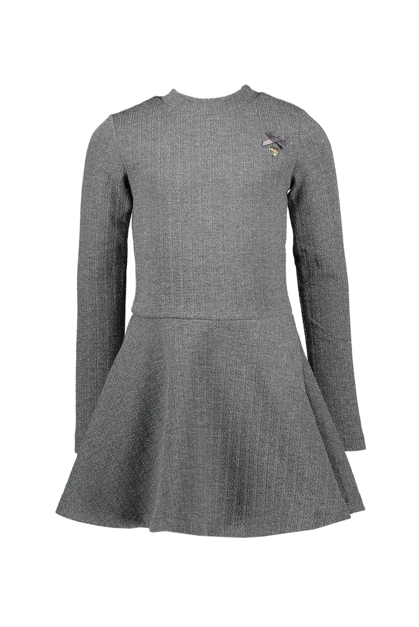 Lauren Dress with Lurex Pinstripe