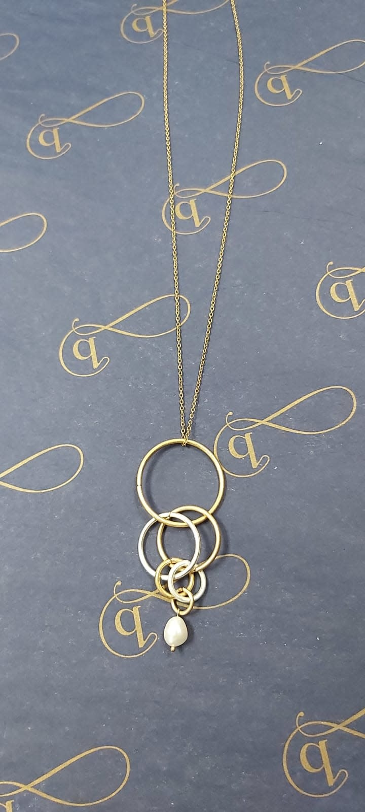 Hoops with Pearl Drop Necklace