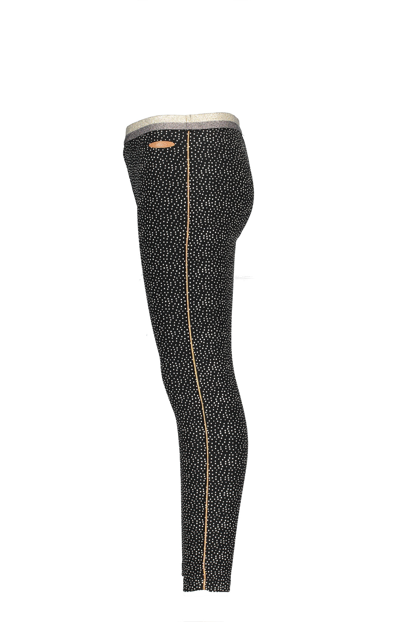 Sole Legging with Dot Print and Rose Gold Piping