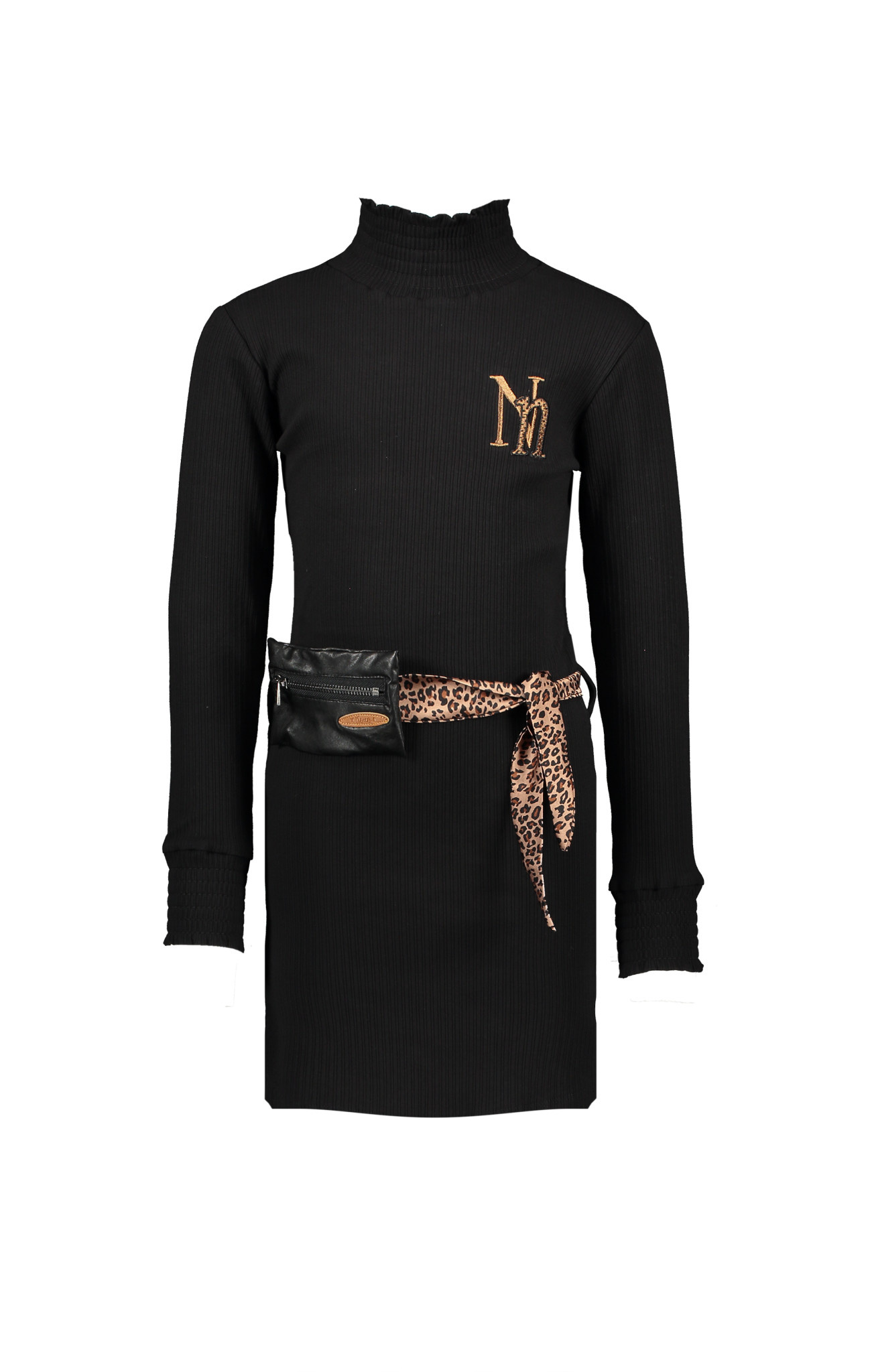 Molan Dress with Leopard Print Tie