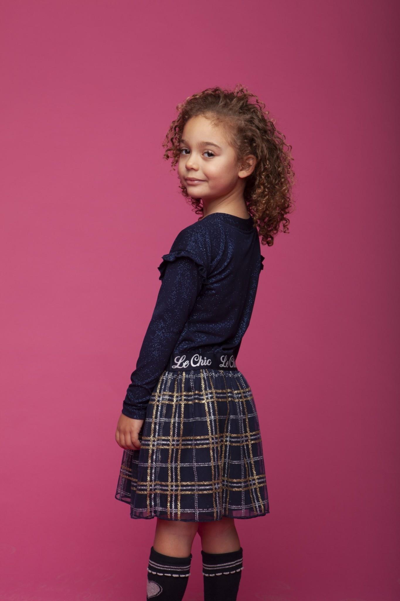 Checked Lurex Skirt