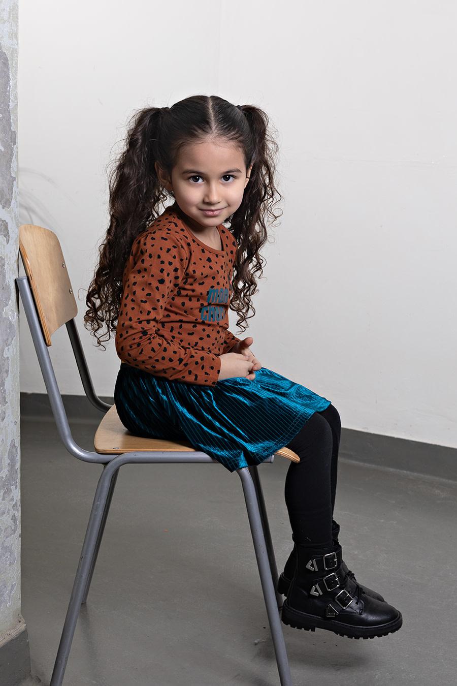 Cira Velour Stripe Skirt