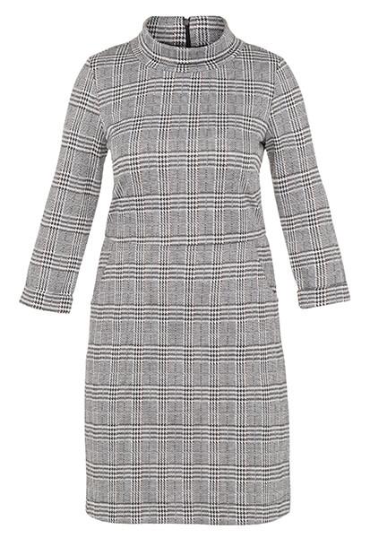 3/4 Sleeve Roll-Neck Dress