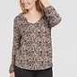 Long Sleeve V-Neck with Top with Frill