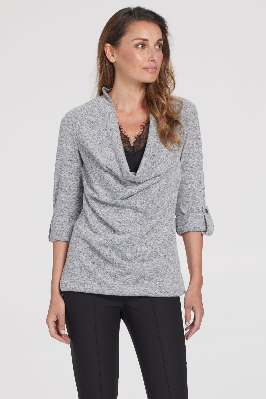 Long Sleeve Fooler Wrap with Roll-Up
