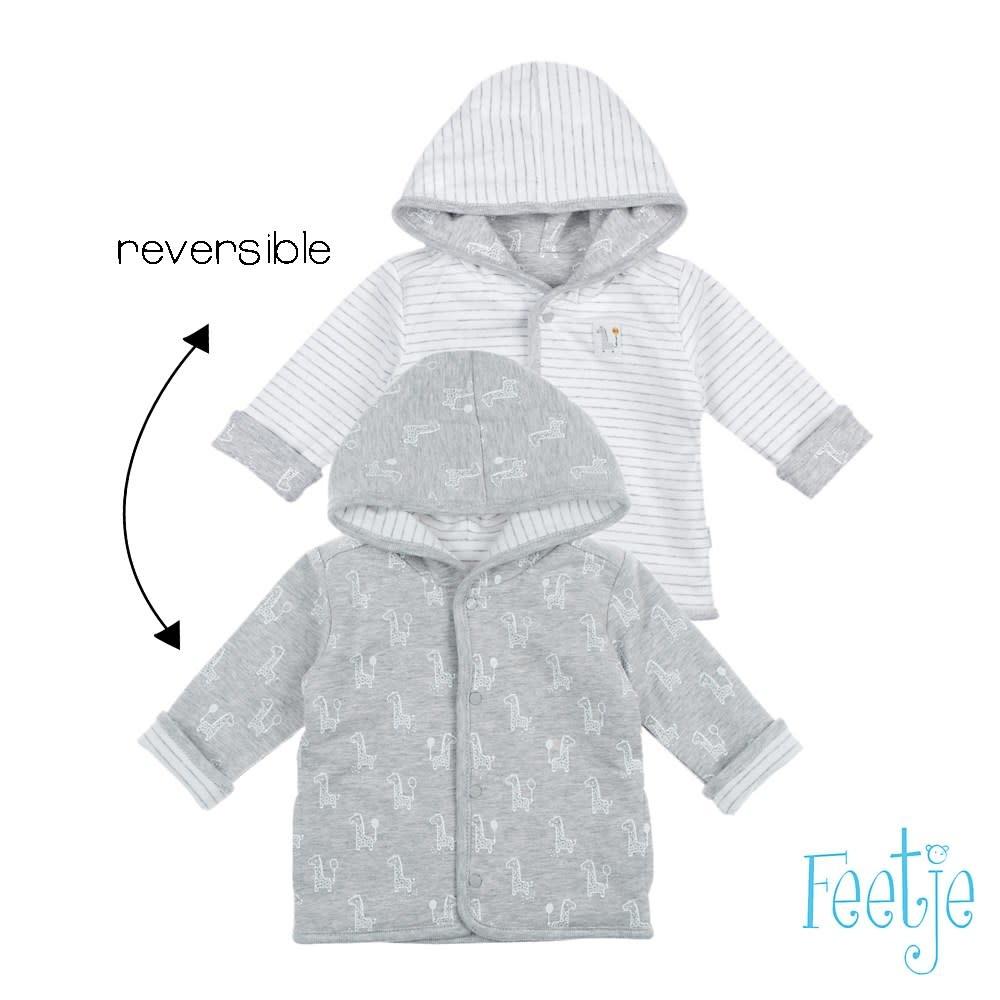 Reversible Jacket with Hood - Giraffe