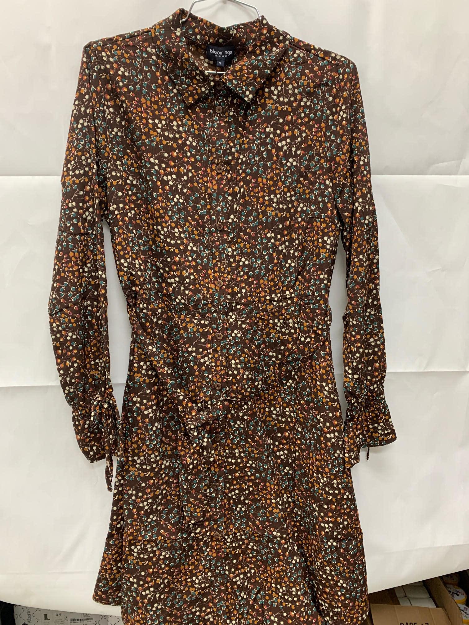 Pinecone Button-Down Dress