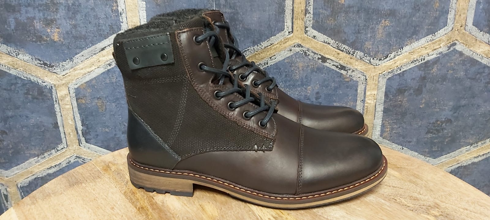 Mens Solara Boots - Brown w/ Navy Accents