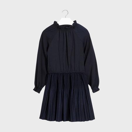 Satin Plisse Dress
