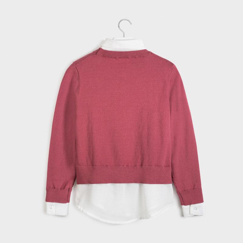 Mixed Chiffon Sweater