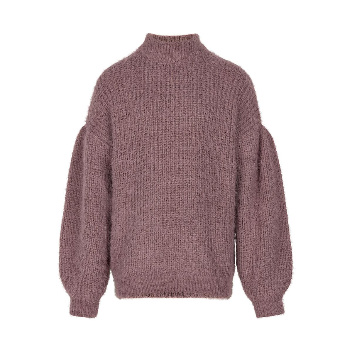 Fuzzy Puff Sleeve Sweater