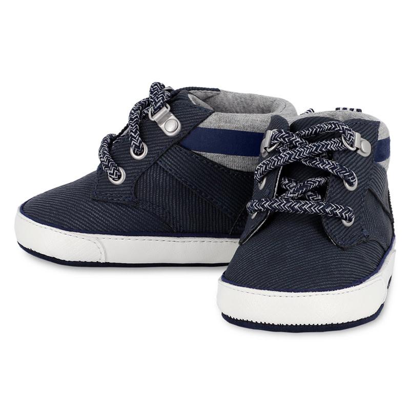 Navy Sneaker Booties