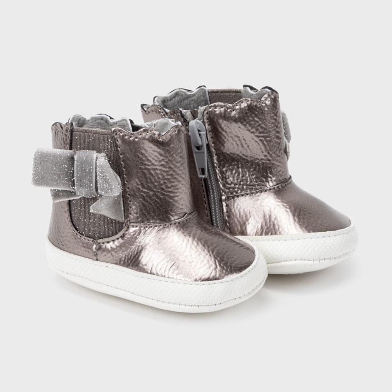 Metallic Patent Boots