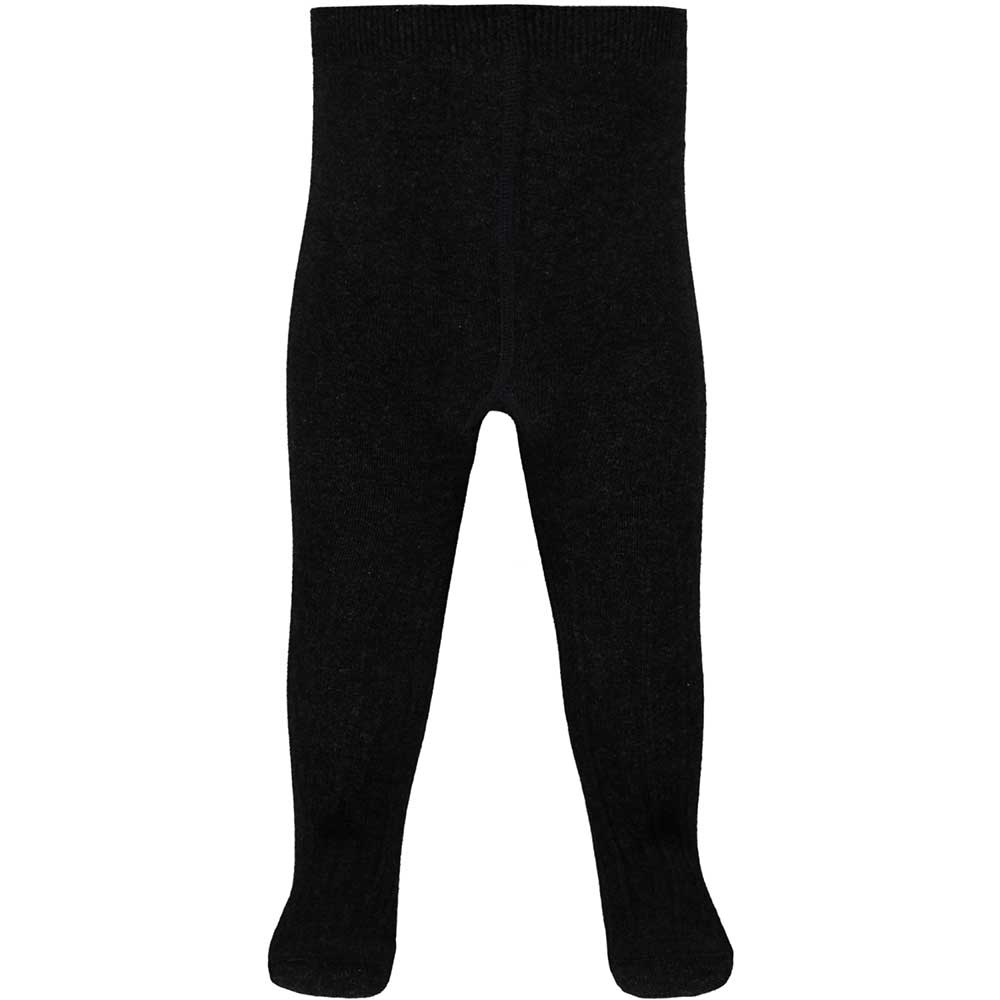 Cotton Baby Tights - Cable Knit - Charcoal