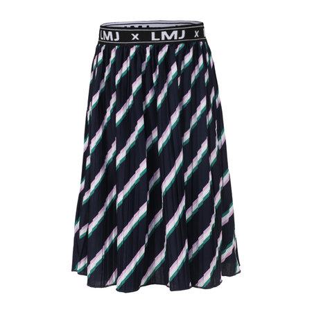 Stripe Plisse Skirt