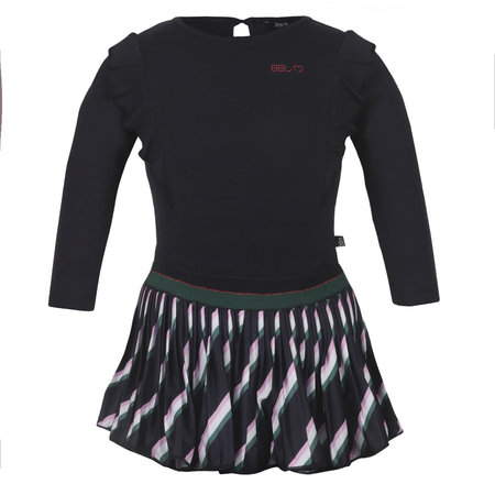 Stripe Plisse Dress