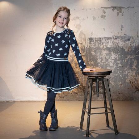 Dance with Me Dress - Dark Blue Print