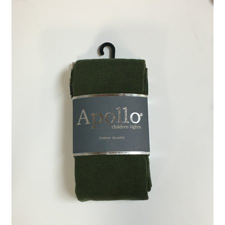 Cotton Tights - Army Green