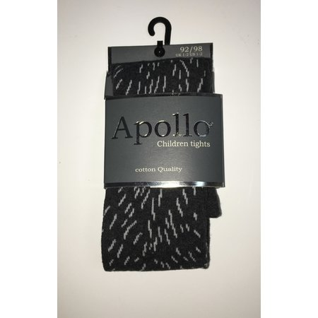 Cotton Tights - Sprinkle Print - Charcoal/Light Grey