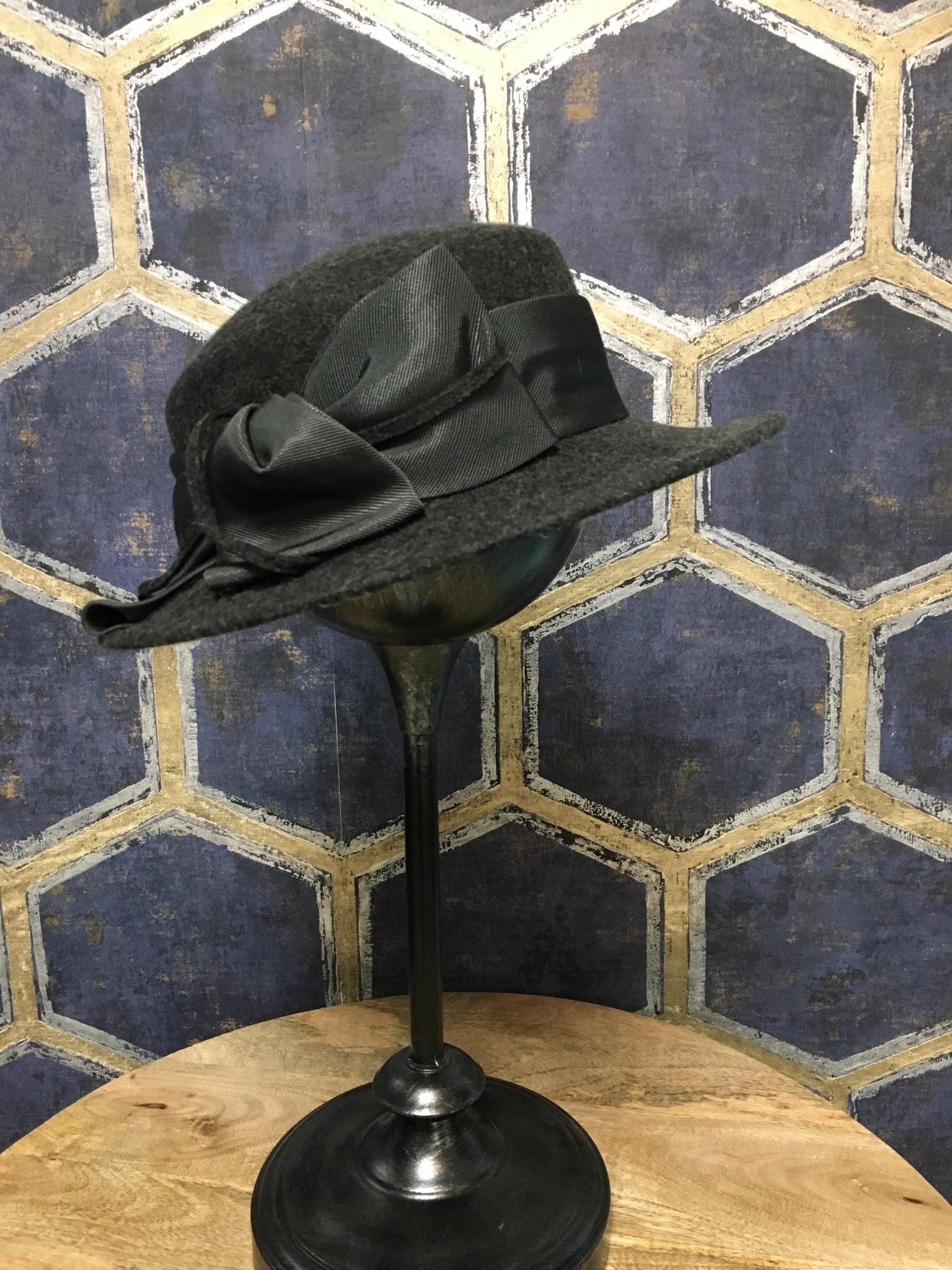 Grey Boater Hat