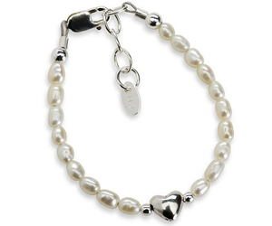 Destiny Bracelet - White & Silver with Freshwater Pearls