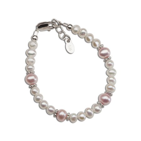 Addie Bracelet - Silver with Pink & White Freshwater Pearls