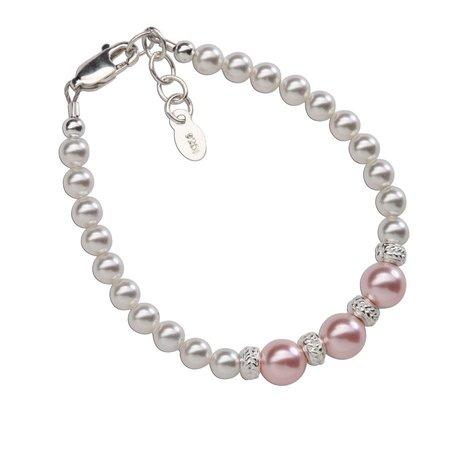 Paige Bracelet - Sterling Silver & Swarovski Pearl