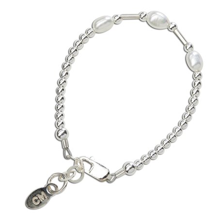 Aspen Bracelet - Sterling Silver with Rice Pearls