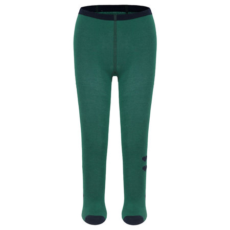 Green Tights with Navy Hearts