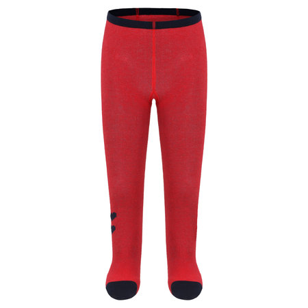 Red Tights with Navy Hearts