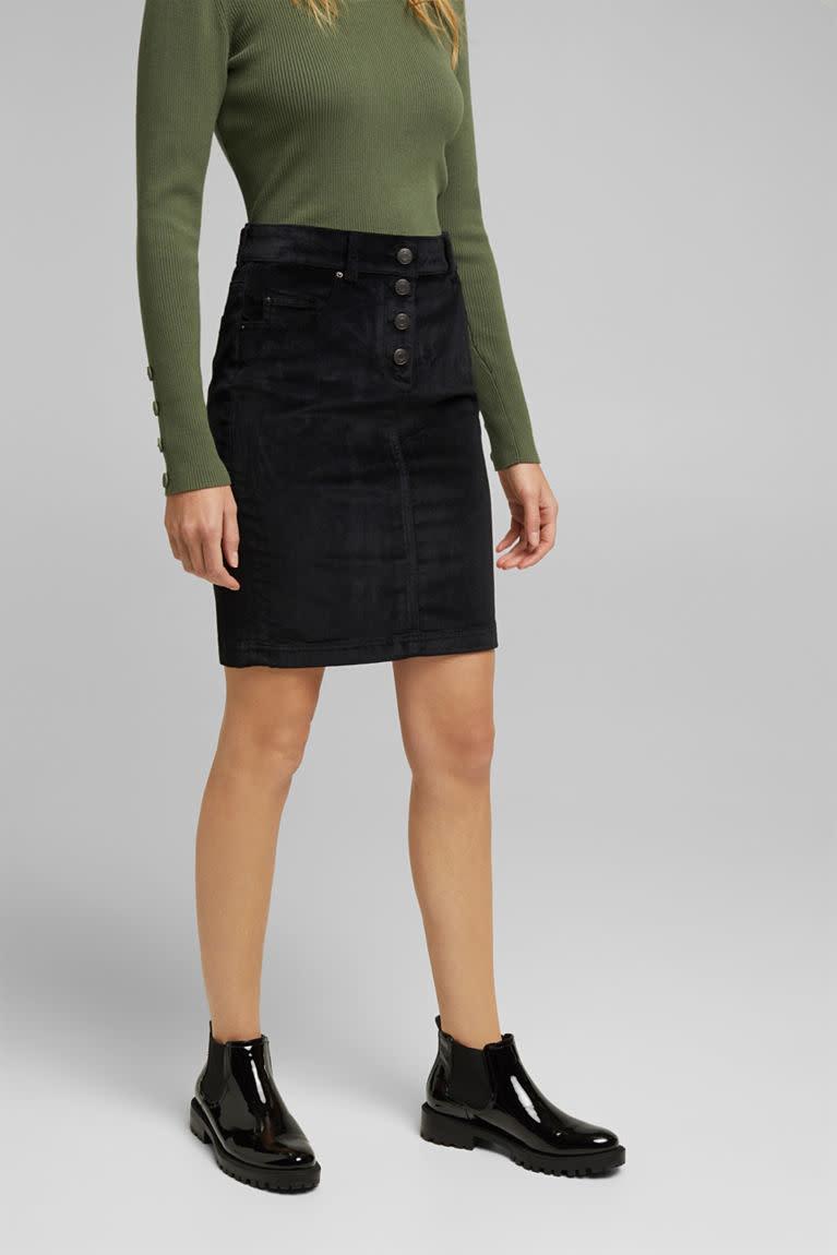 Cord Skirt - Black