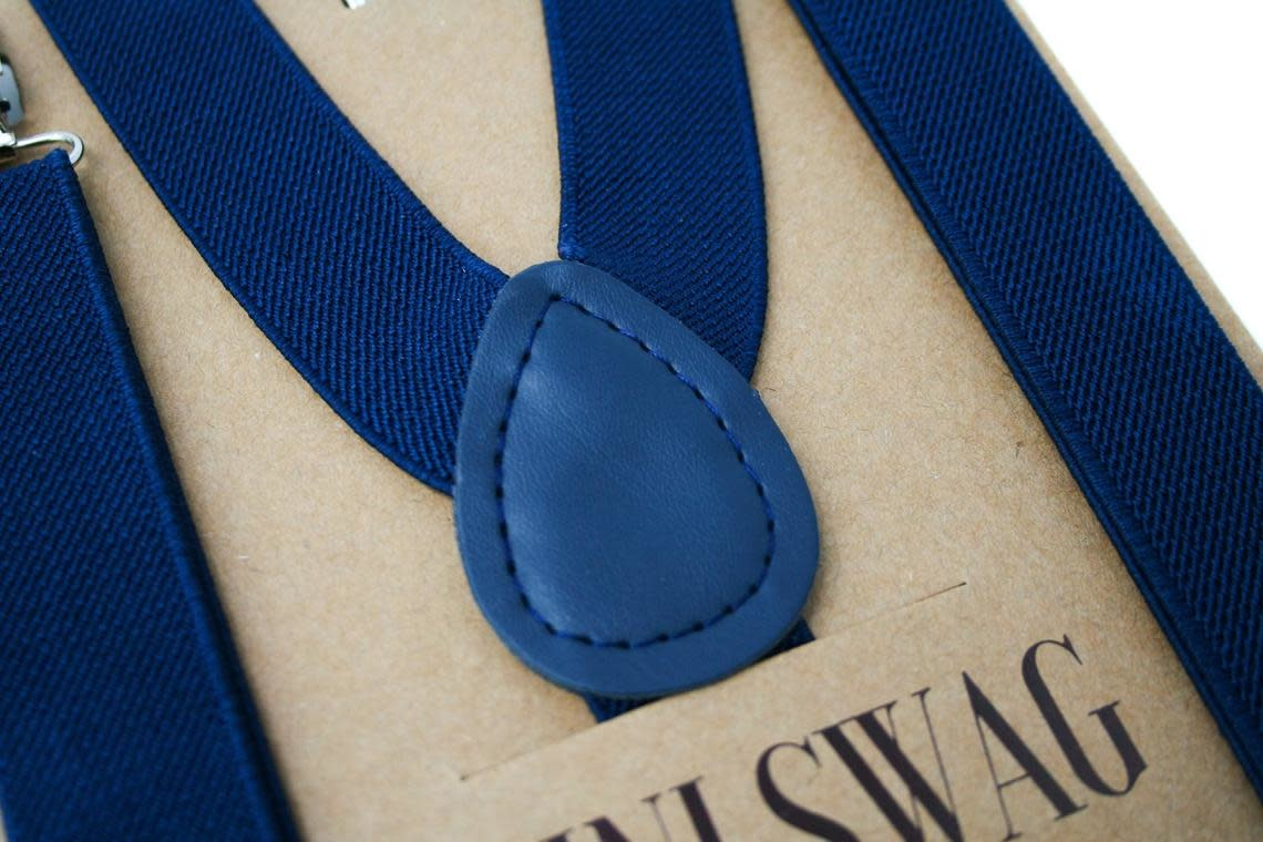 Navy Blue Youth Suspenders