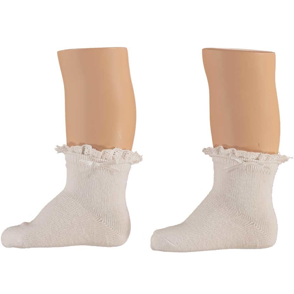Baby Girls White Ruffle Socks - 3 Pack
