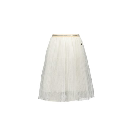 Maribel Long Skirt with Pearls - Offwhite