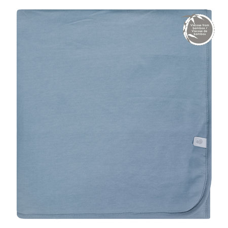 Bamboo Quilted Blanket - Steel Blue