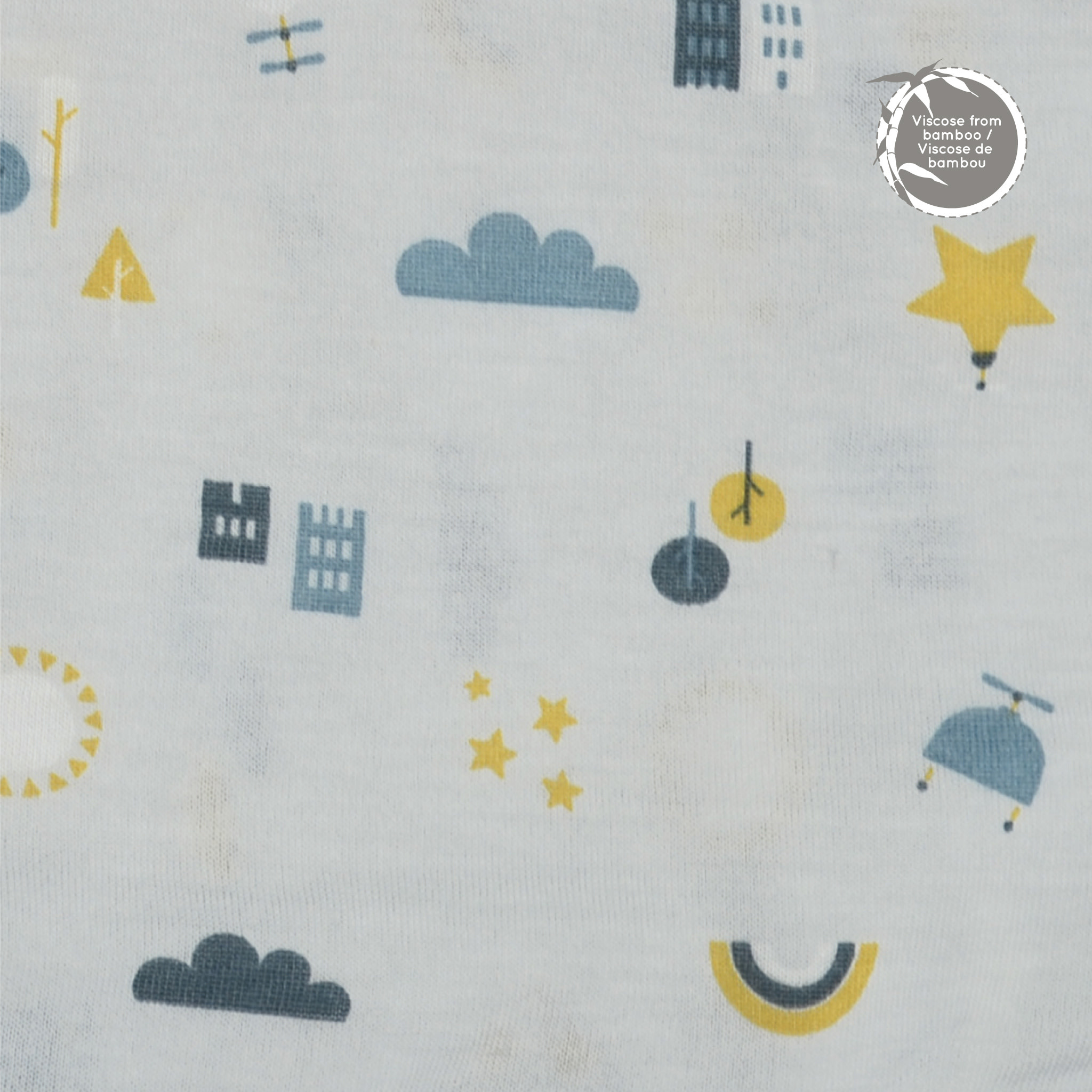 Bamboo Quilted Blanket - City Scapes