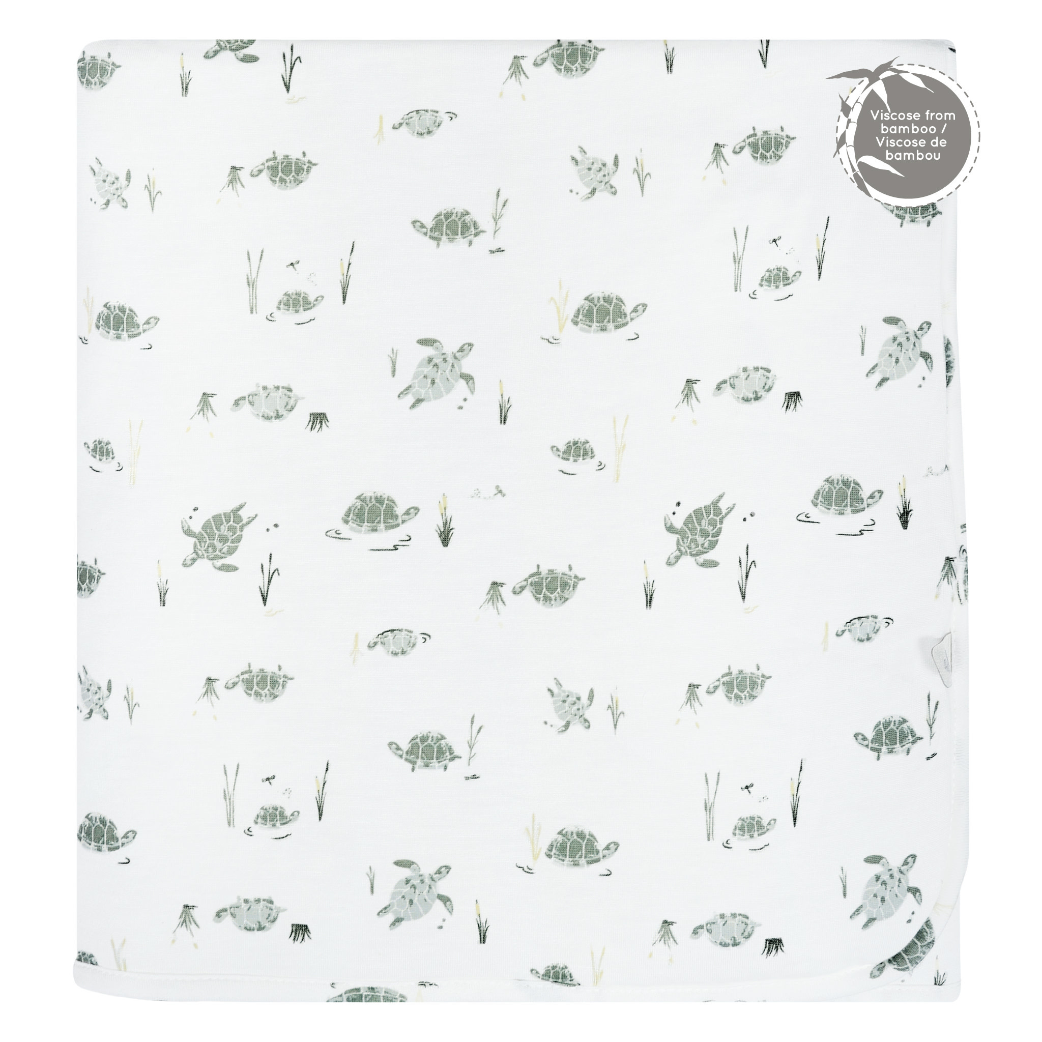 Bamboo Quilted Blanket - Turtles