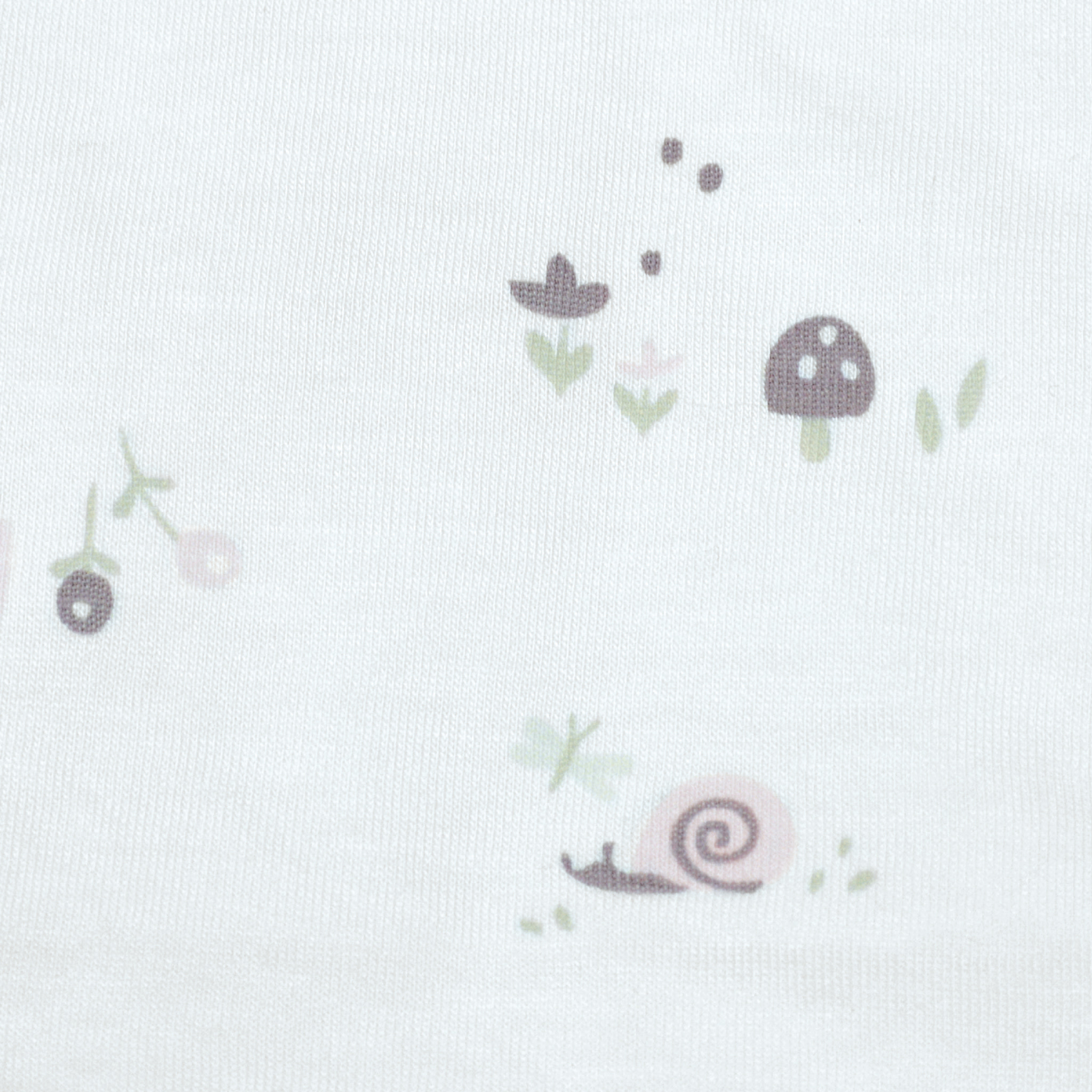 Bamboo Sleep Sack - 1 Tog - Mushrooms & Snails