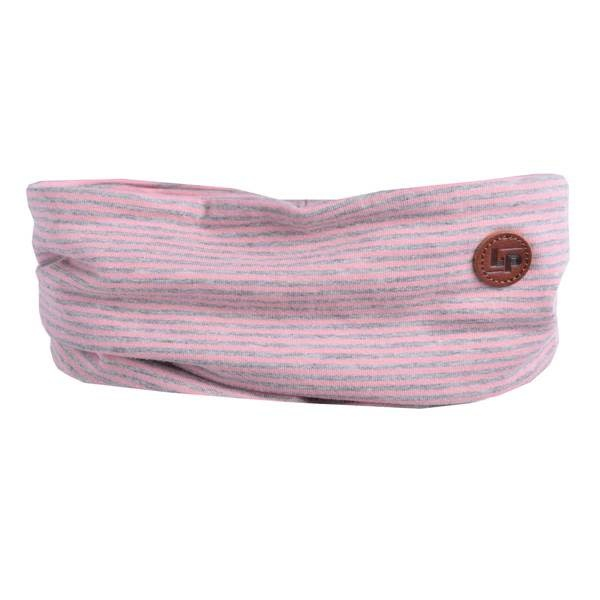 Cotton Loop Scarf - Striped Pink