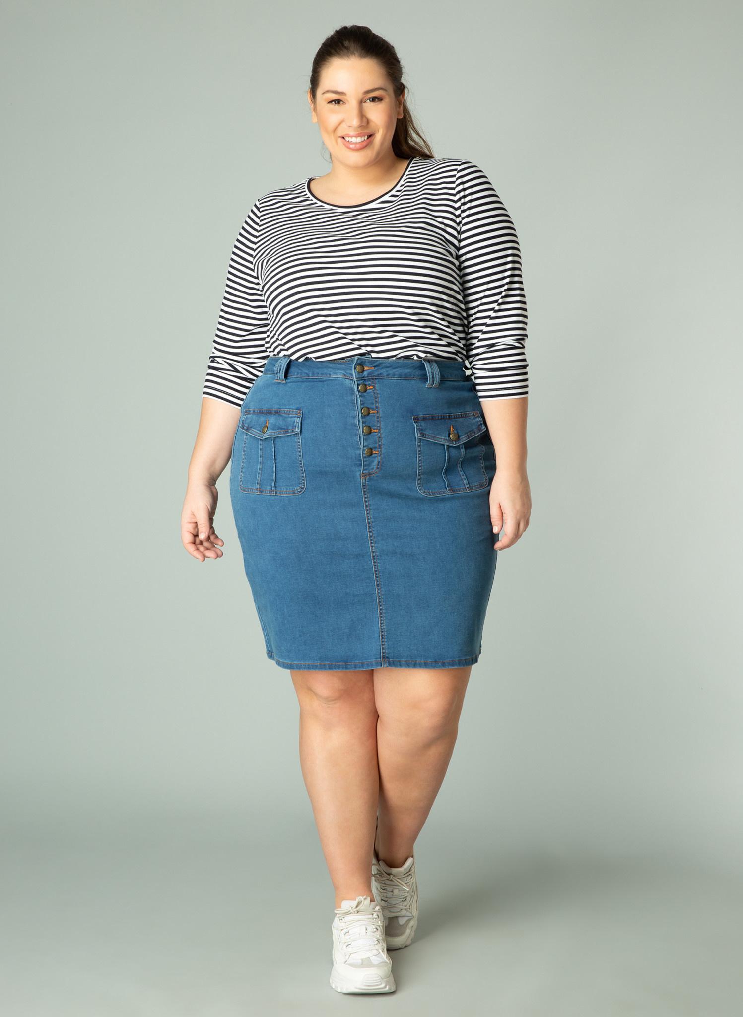 Mid Blue Denim Skirt