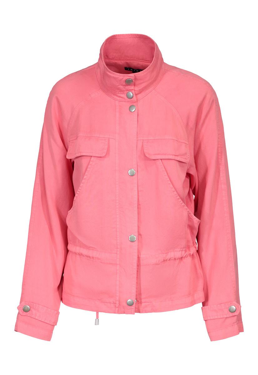 Coral Zip-Front Jacket