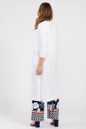White Knit Duster