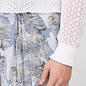 White Cardi with Pointelle Sleeves