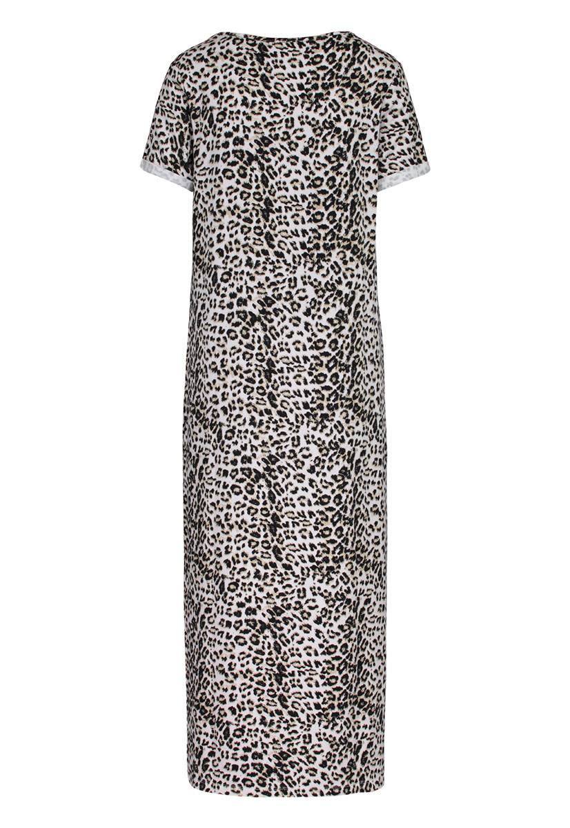 Leopard Print T-Shirt Dress