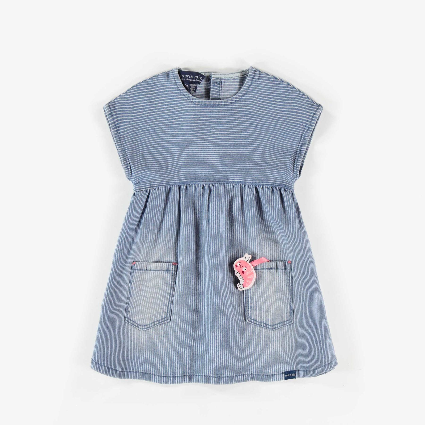 Sealife Denim Dress & Leggings - 2pc Set